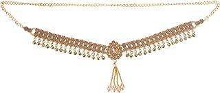 Efulgenz Indian Bollywood Vintage Gold Plated Waist Belt Belly Chain Kamarbandh Bridal Dangle Tassel Body Jewelry