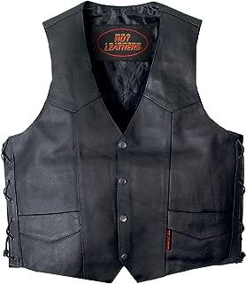 Hot Leathers Unisex-Adult Concealed Carry Leather Vest (Black, XX-Large)