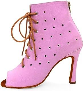 Dansende schoenen Ballroom voor meisjes, antislip Suede Sole Dansschoenen, Bruiloft Ballroom Dames Latijns Salsa Dansschoenen