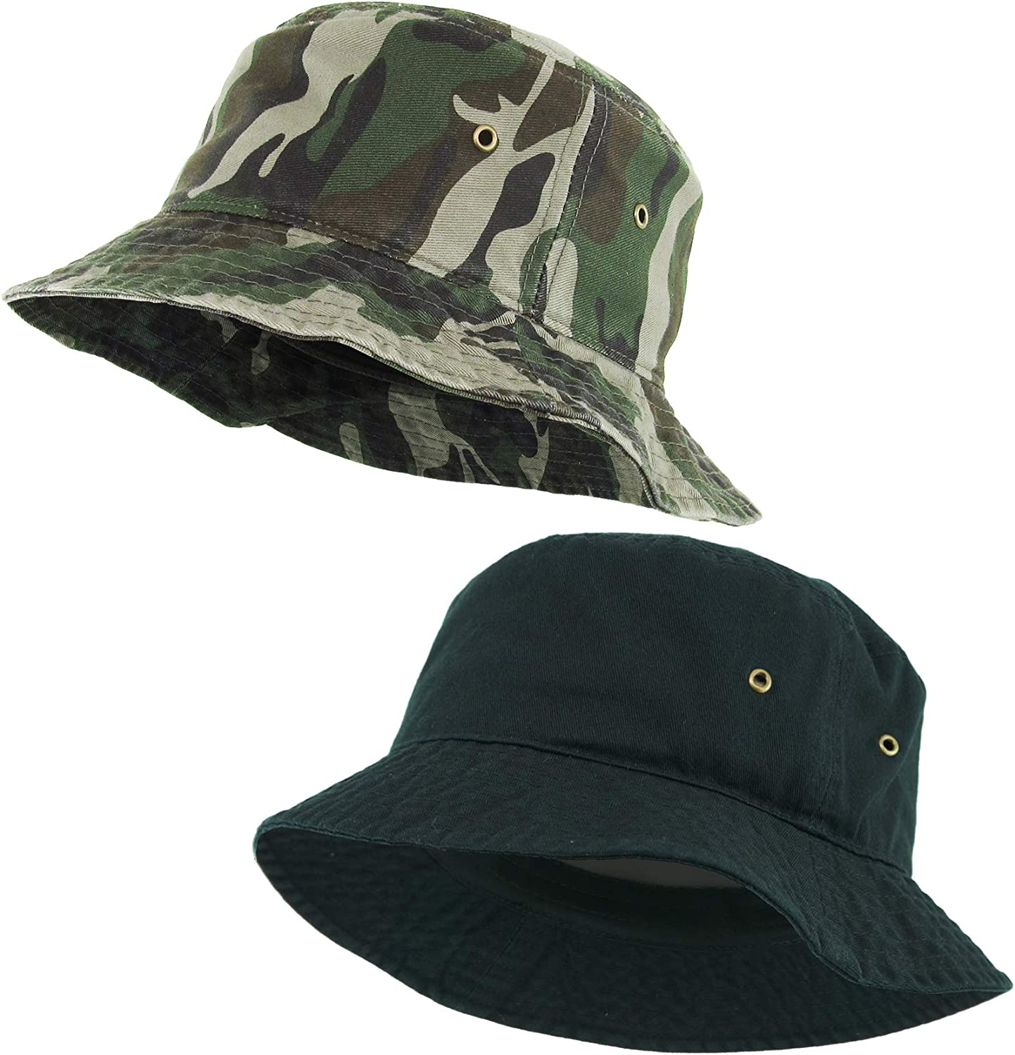 Rock and Roll Vibes with Camo Bucket Hat