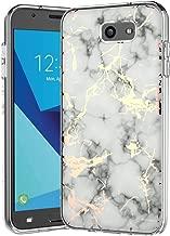 Galaxy J7 V Case,Galaxy J7 Prime Case,Galaxy J7 Perx Case,J7 Sky Pro Case,Spevert Marble Pattern Hybrid Hard Back Soft TPU Raised Edge Slim Protective Case for Samsung Galaxy J7 2017 - White