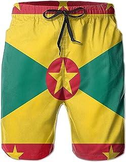 Bernice Winifred Bandera de Granada Deportes Hombres Surf Bañadores de Secado rápido Pantalones Cortos de Playa Pantalones...