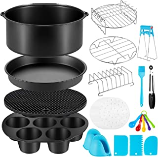 Air Fryer Accessories for Ninja Phillips Gowise Gourmia Dash Power, Fit all 3.6-4.2-6.8QT XL Air Fryer with 8 Inch Cake Pa...