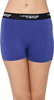 LEADING LADY Women's Plain/Solid Boy Shorts (572_Blue_S)