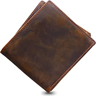 Men's Premium Genuine Leather Bifold Wallet Blocking With Elegant Gift Box - Keep Cash Coins And Cards Securely