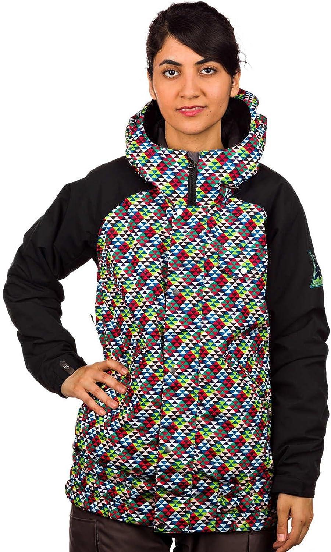 Bonfire Irvington Triad Print Jacket (Jack Black) Women's Snowboard Jacket