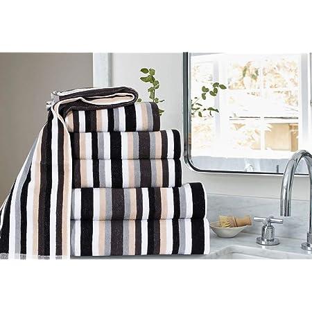 Northern Luxe Victorian Royal Stripe Bath Towel Hand Towel And Bath Sheet Sets Stunning Range Black Grey Bath Sheet Amazon Co Uk Home Kitchen