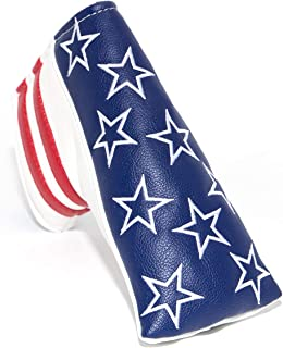barudan golf Stars and Stripes Blade Putter Cover Headcover Club Protective Magnetic Thick Synthetic Leather for Odyssey White Hot Pro 2 Scotty Cameron & Crown Select Newport,2014 My Girl