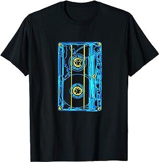 90er Jahre Outfit Kassette Disco Kostüm Neunziger Party T-Shirt