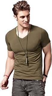 XShing Mens Slim Fit T Shirts Soft Short Sleeves Athletic Muscle Cotton Activewear