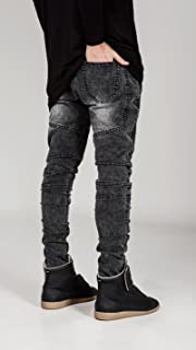 メンズファッション 細脚ロング ジーンズ カジュアルジーンズ デニムパンツ