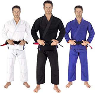 Elite Sports BJJ GI Bundle (3 GIS with White Belts) - Ultra Light Brazilian Jiu Jitsu Gi W/Preshrunk Fabric & Free Belt