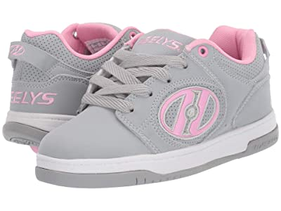 Heelys Voyager (Little Kid/Big Kid/Adult) (Grey/Light Pink) Girls Shoes