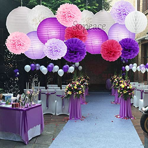 Pink And Purple Party Decorations Amazoncom