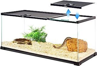 "REPTI ZOO Reptile Glass Terrarium Tank 30"" x 12"" x 12"" Dual Top Sliding Top Cover for Reptile Snake Hamster Hedgehog Small..."