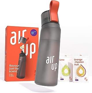 air up® Starter Set - 1 x Bouteille d'eau sans BPA 650 ml, 2 x Pods Arôme Citron Vert et Orange-Fruit de la passion - pour...