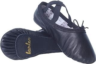 Koolen Leather Ballet Shoes, Vintage Polka dot Ballet Slippers, Ballet Dance Shoes for Girls (Toddler/Little Kid/Big Kid/Women)