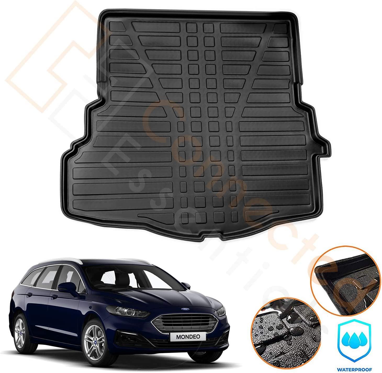 Connected Essentials Moulded Max 51% OFF Boot Liner Estate Ford for Inventory cleanup selling sale Mondeo 2