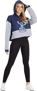 Disney Crop Top Femme Stitch Sweat A Capuche Femme XS-XXL