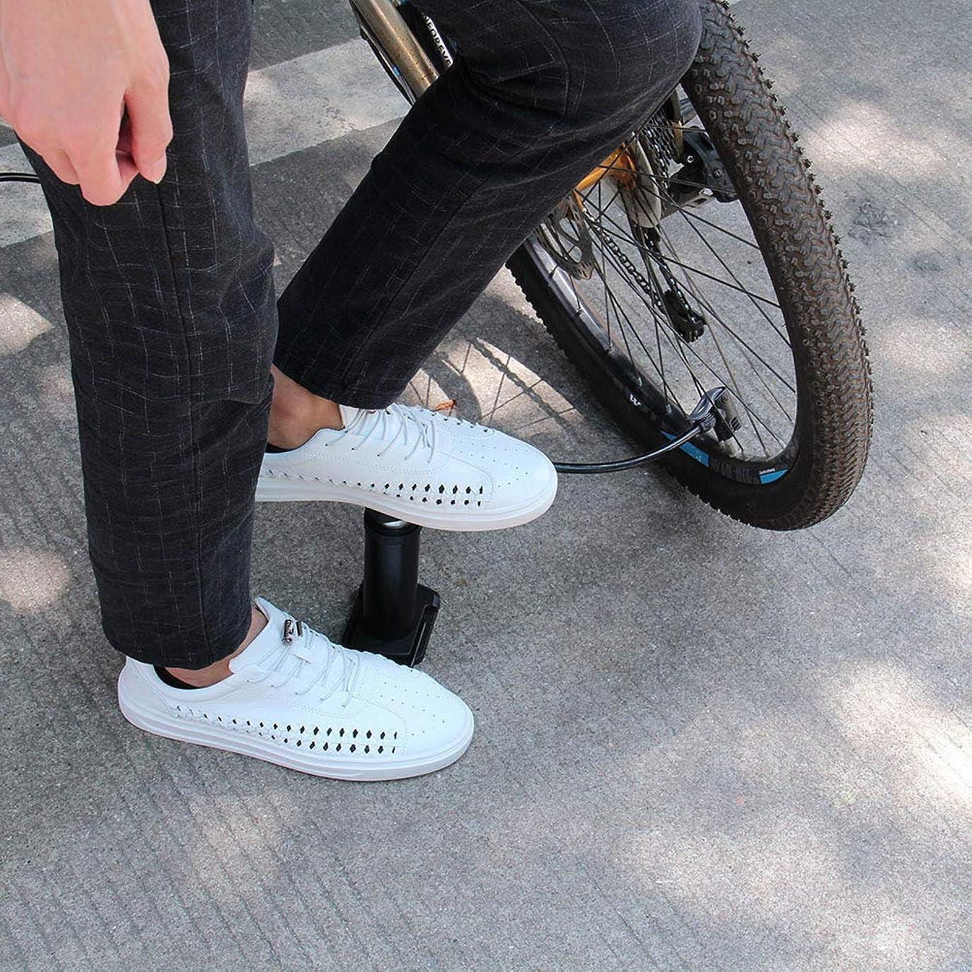 下着佐賀右BOMEON バイクポンプ - ポータブルミニバイクフロアポンプ フットアクティベート 自転車タイヤ&エアポンプ 仏式&米式バルブ対応 アルミニウム合金 バレルフリーガスニードル