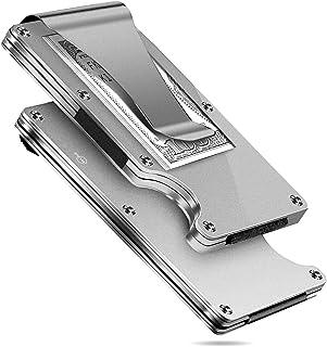 MUCO Porta Carte Di Credito Portafoglio Protezione RFID Metallo Leggero Viaggiare Quotidianamente Uomo Donna Sicurezza Fer...