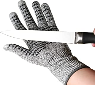 SOULOUT Cut Resistant Work Gloves Level 5, Safety Gloves for Cutting, Kitchen Cut Gloves for Oyster Shucking, Fish Fillet Processing, Cooking, Meat Cutting, Wood
