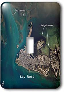 3dRose lsp_204850_1 Print of Aerial View Key West Us Pd Gov NASA Single Toggle Switch