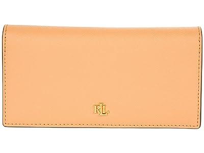 LAUREN Ralph Lauren Crosshatch Leather Slim Wallet Medium