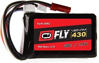 Venom Fly 30C 2S 430mAh 7.4V LiPo Battery with JST and E-flite PH Plug - Compare to E-flite EFLB4302SJ