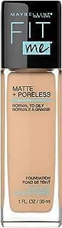 MAYBELLINE Fit Me Matte + Poreless Liquid Foundation Makeup, Warm Nude, 1 fl; oz; Oil-Free Foundation