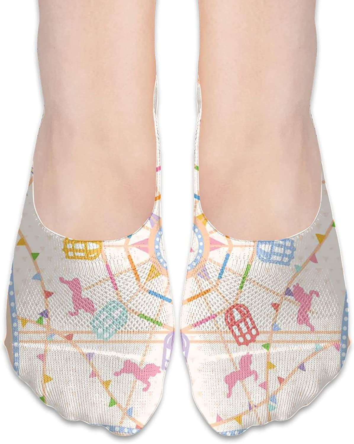 Women's No Show Cushioned Invisible Liner Socks