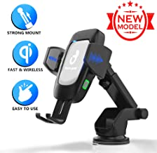 Wireless Charger Car Phone Mount - Car Cell Phone Holder - 10W Qi USB Charging Auto Clamping - Dashboard Air Vent Phone Holder for iPhone Xs MAX/XS/XR/X/8/8+ for Samsung S10/S10+/S9/S9+/S8/S8+