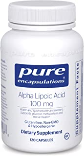 Pure Encapsulations Alpha Lipoic Acid 100 mg | ALA Supplement for Liver Support, Antioxidants, Nerve and Ca...