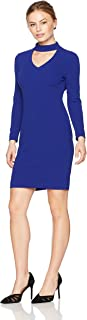 Calvin Klein Women's Petite Sleeved Sheath with Front Cut Out Dress