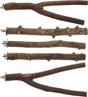 ULTECHNOVO 1 set/5 st papegoja fågel trä stående pinnar fågel slipande klo stavar husdjursleksaker husdjurstillbehör.