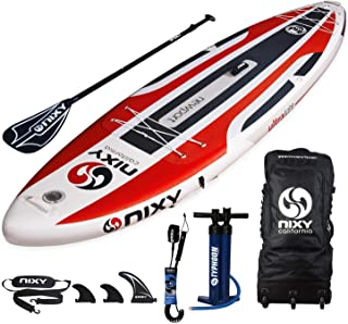 "NIXY Newport Paddle Board All Around Inflatable SUP 10'6"" x 33"" x 6"" Ultra-Light Stand Up Paddleboard Built with Dual Laye..."