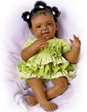 Alexis with Hand-Rooted Hair Hold That Pose!  Lifelike & Realistic African-American Baby Doll 19-inches by The Ashton-Drake Galleries