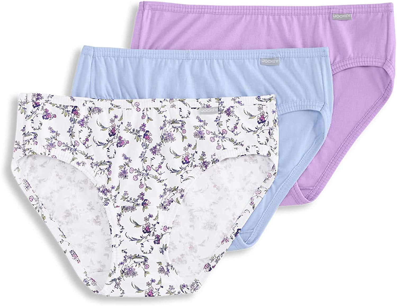 Jockey Womens Elance Bikini 3-Pack