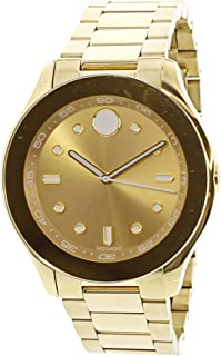 Movado Women's Swiss Quartz Tone and Gold Plated Casual Watch(Model: 3600416)