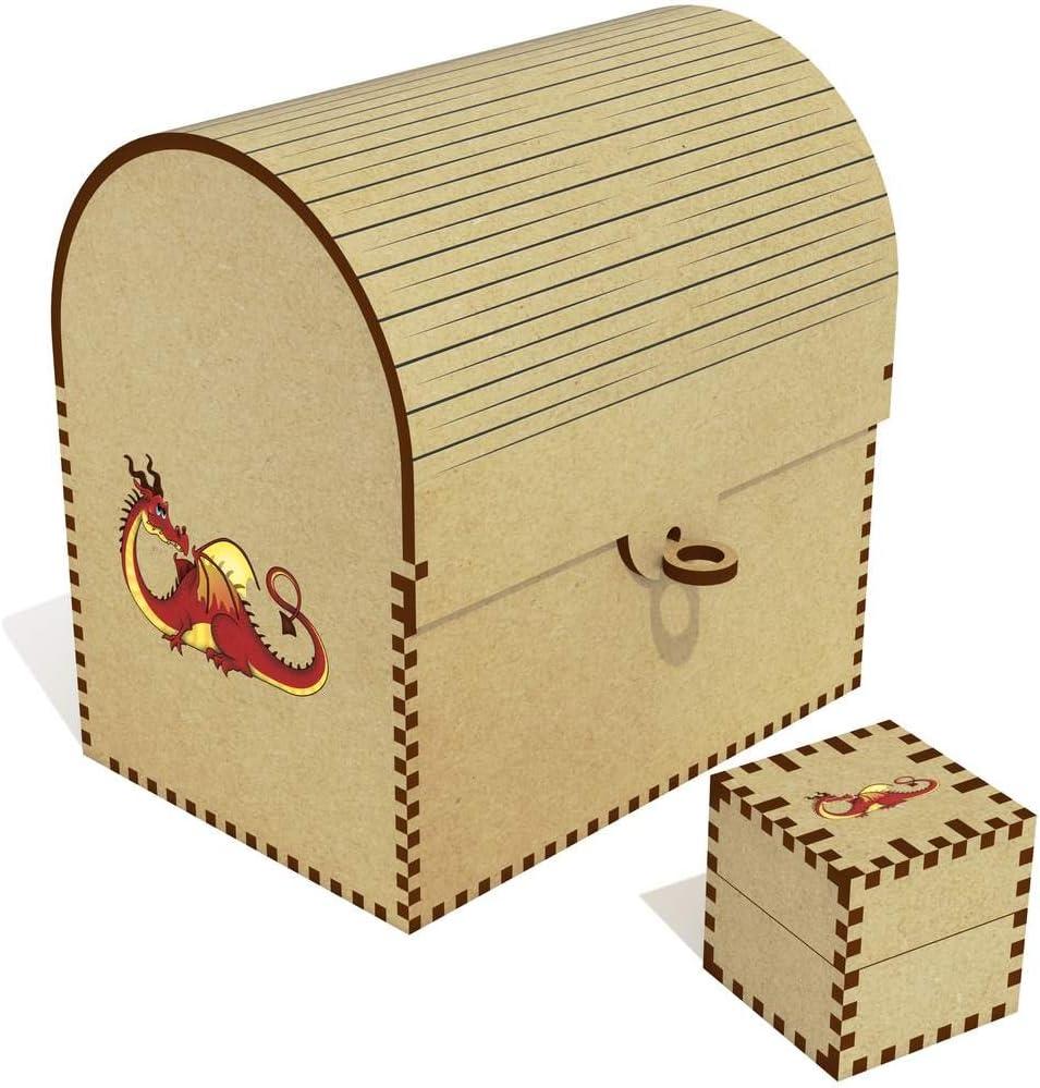 Azeeda 'Red Dragon' El Paso Mall Treasure Box Inexpensive Chest Jewellery TC00030505