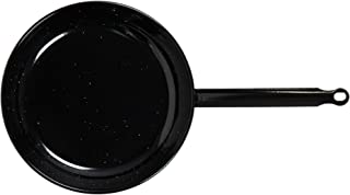 Vaello La Valenciana 924 Enamelled Steel Pan, 24 cm, Wood, Black