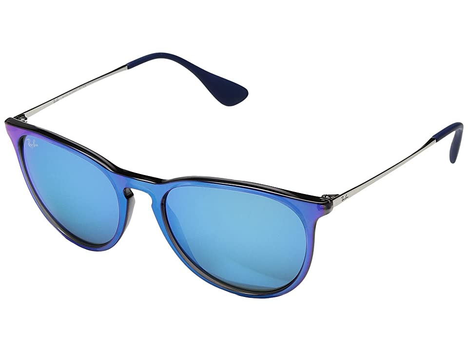 Ray-Ban Erika RB4171 54mm (Flash Blue/Blue Mirror) Fashion Sunglasses