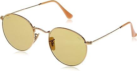Ray Ban Erkek Güneş Gözlükleri 0RB ROUND METAL 90644C 50, GOLD\PHOTOGREEN,