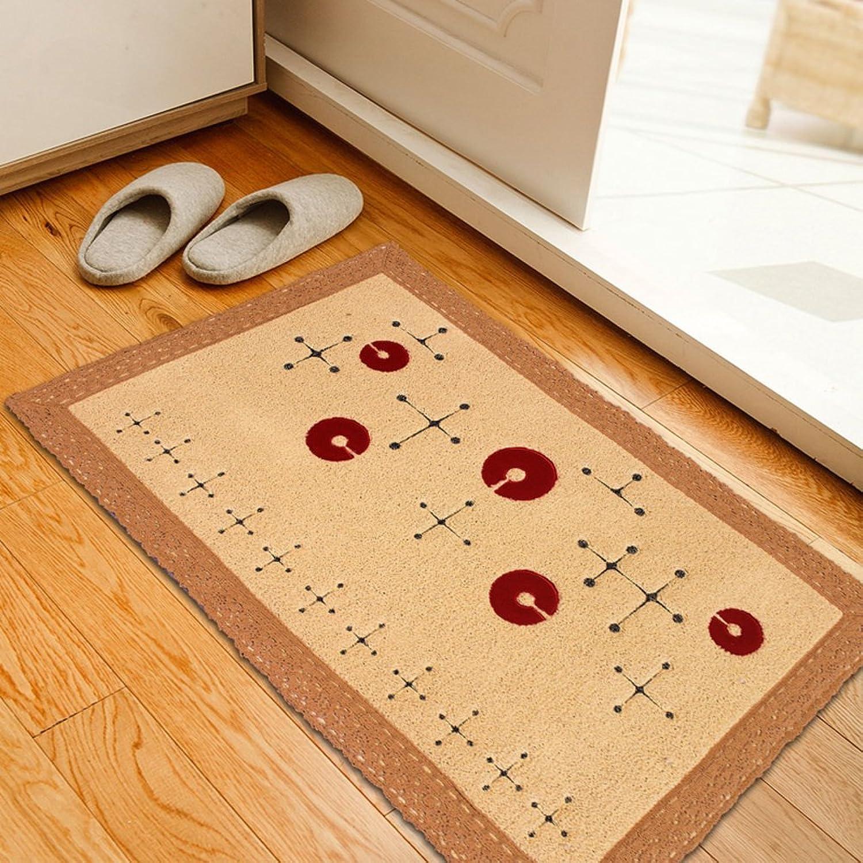 Cotton household door mats Living room bedroom kitchen cotton embroidered mats Environmental mats Tatami mats-A 67x110cm(26x43inch)