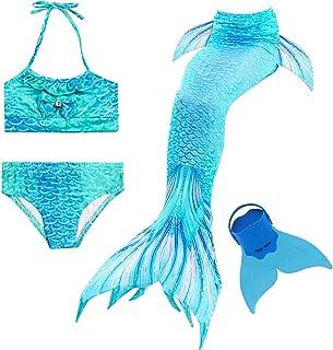 Cola de Sirena para Natación Traje de Baño 4pcs Mermaid