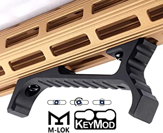 SmallDen Aluminum M-LOK KEYMOD Accessories for Mlok Picatinny Rail,fit Keymod Rail Sections(Black)