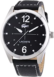Lacoste Montreal Men's Black Dial Leather Band Watch - 2010695