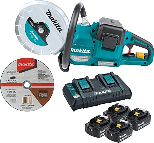 """new arrival Makita XEC01PT1 18V X2 (36V) LXT Lithium-Ion Brushless Cordless 9"""" Power Cutter Kit, with online AFT, 2021 Electric Brake, 4 Batteries (5.0 Ah) online sale"""