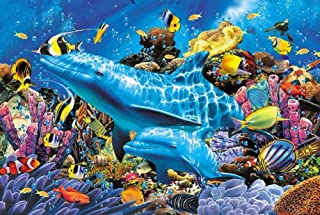 BJBJBJ 1000 Pieces of Wooden Puzzles Underwater World Fun Games Educational Exploration Creativity and Problem Solving