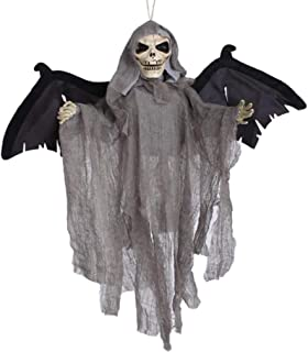 Masker Decoratie, Scary Hangende Gho Electric gloeiende ogen Shake Bat Py Sound Flying Skull Skeleton Decoration Party Pro...
